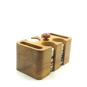 Vintage Pla-Wood Product Poker Chips Holder